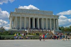 Μνημείο του Λίνκολν κοντά στην εθνική λεωφόρο στο Washington DC Στοκ Εικόνα
