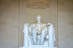 Μνημείο του Λίνκολν, Washington DC στοκ εικόνες με δικαίωμα ελεύθερης χρήσης