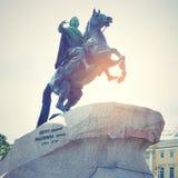 Μνημείο του Μέγας Πέτρου στην Άγιος-Πετρούπολη Στοκ Εικόνες