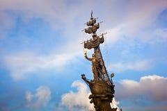 Μνημείο του Μέγας Πέτρου στη Μόσχα, Ρωσία Στοκ Εικόνες