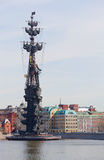 Μνημείο του Μέγας Πέτρου στη Μόσχα Στοκ Φωτογραφία