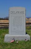 Μνημείο του Ντελαγουέρ - εθνικό πεδίο μάχη Antietam, Μέρυλαντ Στοκ Εικόνες