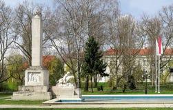 Μνημείο του πολέμου στο κέντρο της πόλης Gyor Στοκ εικόνες με δικαίωμα ελεύθερης χρήσης