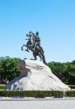 Μνημείο του ρωσικού αυτοκράτορα Μέγας Πέτρος Στοκ Εικόνες