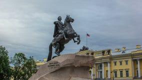 Μνημείο του ρωσικού αυτοκράτορα Μέγας Πέτρος, γνωστό ως ιππέας χαλκού timelapse hyperlapse, Άγιος Πετρούπολη φιλμ μικρού μήκους