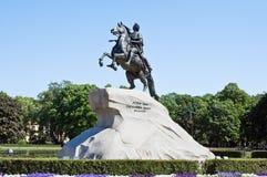 Μνημείο του ρωσικού αυτοκράτορα Μέγας Πέτρος Στοκ Φωτογραφία