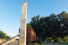 Μνημείο του τραίνου που συσκευάζεται με τους κυβερνητικούς στρατιώτες που συλλαμβάνονται από το CH Στοκ φωτογραφία με δικαίωμα ελεύθερης χρήσης