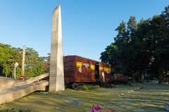 Μνημείο του τραίνου που συσκευάζεται με τους κυβερνητικούς στρατιώτες που συλλαμβάνονται από το CH Στοκ Εικόνες