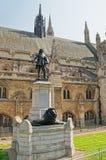 Μνημείο του Όλιβερ Κρόμγουελ στο εξωτερικό παλάτι του Γουέστμινστερ στο Λονδίνο στοκ φωτογραφίες