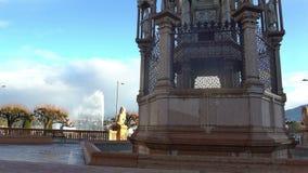 Μνημείο του Brunswick στη Γενεύη, Ελβετία, άποψη στην πηγή, επίσκεψη απόθεμα βίντεο