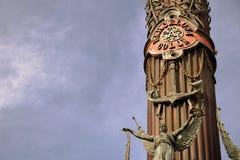 Μνημείο του Christopher Columbus στο λιμένα της Βαρκελώνης στοκ εικόνες