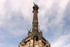 Μνημείο του Christopher Columbus στο λιμένα της Βαρκελώνης στοκ φωτογραφίες