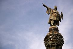 Μνημείο του Christopher Columbus στο λιμένα της Βαρκελώνης στοκ εικόνα με δικαίωμα ελεύθερης χρήσης