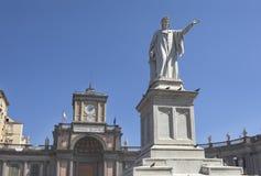 Μνημείο του Dante στη Νάπολη Στοκ Φωτογραφίες