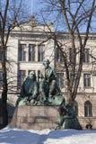 Μνημείο του Elias Lonnrot, συλλέκτης Kalevala - το εθνικό έπος της Φινλανδίας, Ελσίνκι, 1902 στοκ φωτογραφία με δικαίωμα ελεύθερης χρήσης