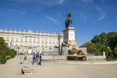 Μνημείο του Felipe IV Στοκ Φωτογραφία