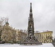 Μνημείο του Franz Joseph στην Πράγα Στοκ Εικόνες