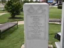 Μνημείο του Jefferson Νταίηβις Στοκ Εικόνες