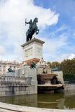 Μνημείο του Philip IV Μαδρίτη Ισπανία Στοκ φωτογραφία με δικαίωμα ελεύθερης χρήσης
