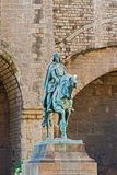 Μνημείο του Ramon Berenguer ΙΙΙ, αρίθμηση της Βαρκελώνης Στοκ Φωτογραφίες
