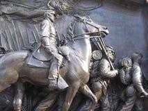 Μνημείο του Robert Gould Shaw, οδός αναγνωριστικών σημάτων, Βοστώνη, Μασαχουσέτη, ΗΠΑ Στοκ φωτογραφίες με δικαίωμα ελεύθερης χρήσης
