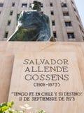Μνημείο του Salvador Allende Στοκ Εικόνες