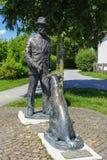 Μνημείο του Thomas Mann σε Gmund στοκ εικόνες