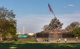 Μνημείο του Washington DC Iwo Jima Στοκ εικόνες με δικαίωμα ελεύθερης χρήσης