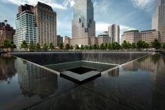 Μνημείο του World Trade Center στο Μανχάταν, πόλη της Νέας Υόρκης Στοκ φωτογραφία με δικαίωμα ελεύθερης χρήσης
