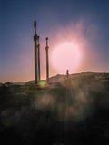 Μνημείο τριών ξιφών, Stavanger, Νορβηγία Στοκ εικόνες με δικαίωμα ελεύθερης χρήσης
