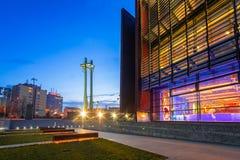 Μνημείο τριών σταυρών στο ευρωπαϊκό τετράγωνο αλληλεγγύης Στοκ Εικόνες