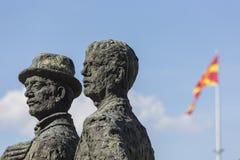 Μνημείο των λεμβούχων Salonica στα Σκόπια - τη Μακεδονία στοκ φωτογραφία