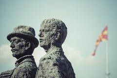 Μνημείο των λεμβούχων Salonica στα Σκόπια - τη Μακεδονία στοκ φωτογραφίες