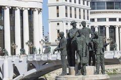 Μνημείο των λεμβούχων Salonica στα Σκόπια - τη Μακεδονία στοκ εικόνες με δικαίωμα ελεύθερης χρήσης