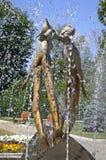 Μνημείο των εραστών (ή μνημείο του φιλιού) σε Kharkiv, Ουκρανία Στοκ Φωτογραφία