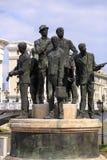 Μνημείο των λεμβούχων Salonica στα Σκόπια, Μακεδονία στοκ εικόνες