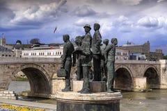 Μνημείο των λεμβούχων Salonica στα Σκόπια, Μακεδονία στοκ εικόνα με δικαίωμα ελεύθερης χρήσης