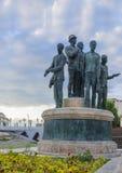 Μνημείο των λεμβούχων Salonica στα Σκόπια στοκ φωτογραφία με δικαίωμα ελεύθερης χρήσης