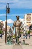 Μνημείο χαλκού θείος Stepa-militiaman στη Samara, Ρωσία στοκ εικόνες