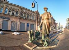 Μνημείο χαλκού θείος Stepa-militiaman στοκ εικόνες