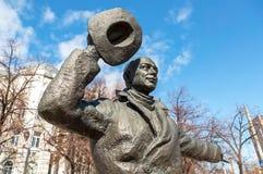 Μνημείο χαλκού Yuriy Detochkin, ο πρωταγωνιστής του Sovie Στοκ Φωτογραφίες