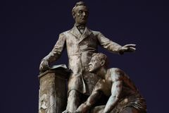 Μνημείο χειραφέτησης - πάρκο του Λίνκολν στοκ φωτογραφίες με δικαίωμα ελεύθερης χρήσης