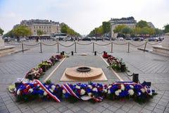 Μνημείο Arc de Triomphe, ένα από τα διασημότερα μνημεία Στοκ Εικόνες