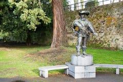Μνημείο Artagnan στο Μάαστριχτ, Κάτω Χώρες Στοκ Εικόνες