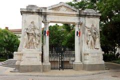 Μνημείο aux Morts, Nîmes, Γαλλία Στοκ φωτογραφία με δικαίωμα ελεύθερης χρήσης