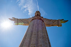 Μνημείο cristo-Rei Λισσαβώνα του Ιησούς Χριστού στη Λισσαβώνα Στοκ Φωτογραφία