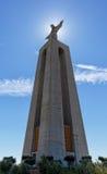 Μνημείο cristo-Rei Λισσαβώνα του Ιησούς Χριστού στη Λισσαβώνα Στοκ Εικόνες
