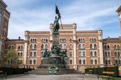 Μνημείο Deutschmeister (γερμανικός πρωτοπόρος) στη Βιέννη στοκ φωτογραφίες