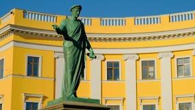 Μνημείο Duc de Richelieu στην Οδησσός φιλμ μικρού μήκους