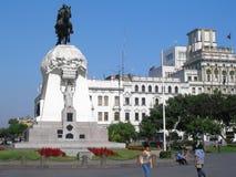 Μνημείο General Jose de SAN Martin στη Λίμα, Περού Στοκ εικόνα με δικαίωμα ελεύθερης χρήσης